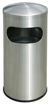 Large Rounded Top Stainless Steel Trash Can