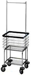 Ergonomic Elevated Wire Laundry Basket with Hanging Bar