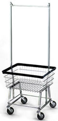 Basic Wire Laundry Cart with Hanging Bar