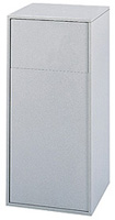Large Capacity Push Door Waste Receptacle with Flat Top (Gray) - Model #: SFC9728