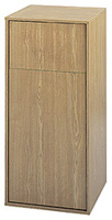 Large Capacity Push Door Waste Receptacle with Flat Top (Oak) - Model #: SFC9728