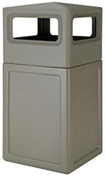 Large Capacity Outdoor Waste Receptacle Smokers Outpost 38SQESGRDM