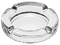 Circular Glass Cigarette Ashtray - 4.5 inches