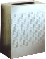 Stainless Steel Trash Cans with perforations